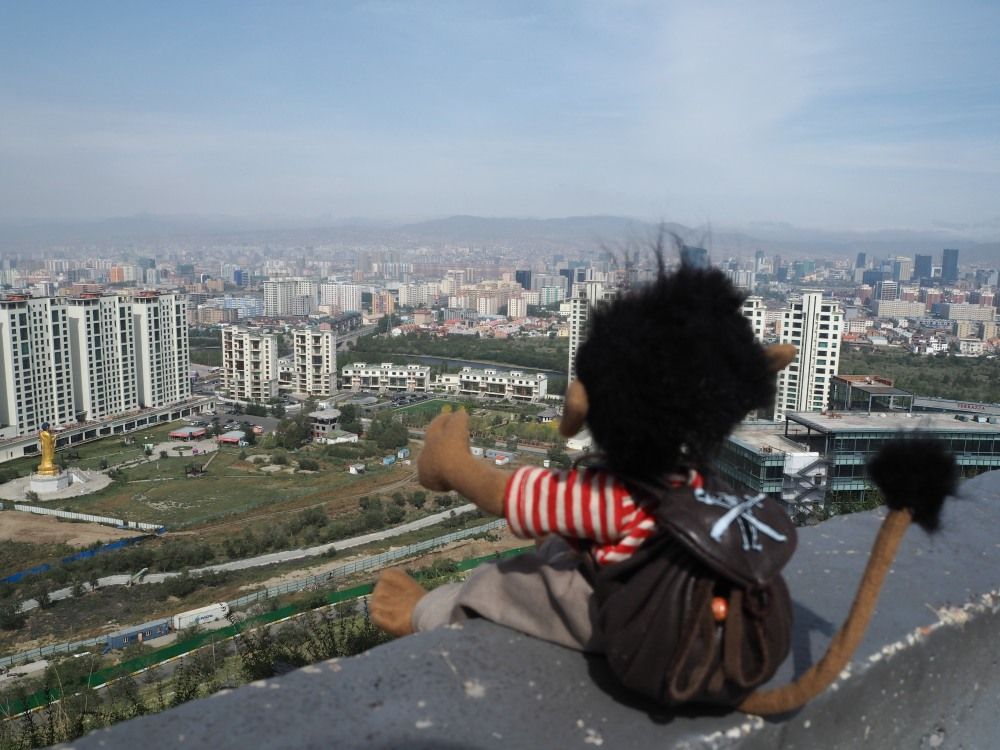 Von oben draußen ist Ulaanbaatar leider nicht so schön.